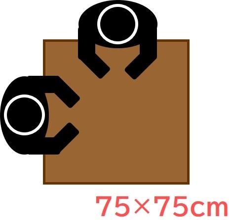 75×75cm(正方形)