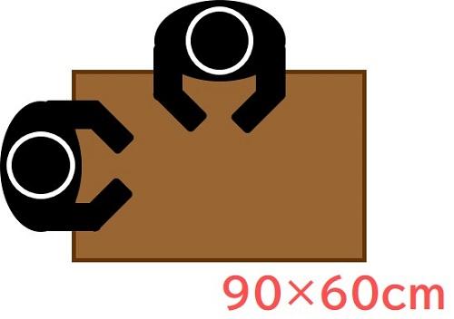90x60cm(長方形)