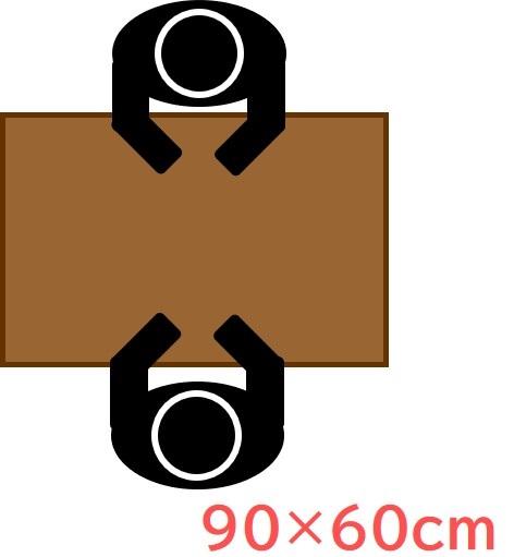 90×60cm