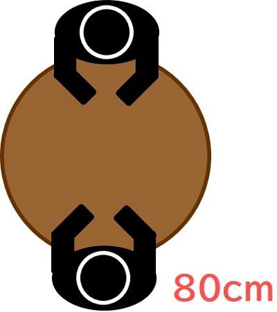 直径80cm(円形)
